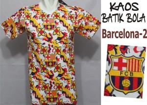 jual kaos batik bola barcelona