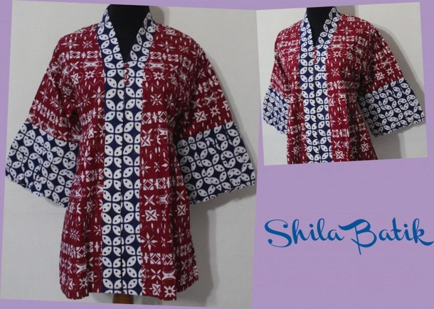 Blus Batik Cap Lengan Balon Jual Batik Online Murah