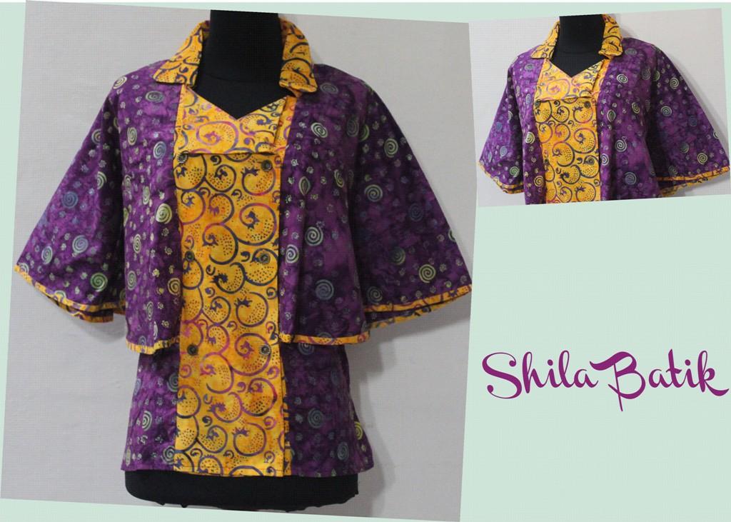 Blus Batik Cap Model Kelelawar Jual Batik Online Murah