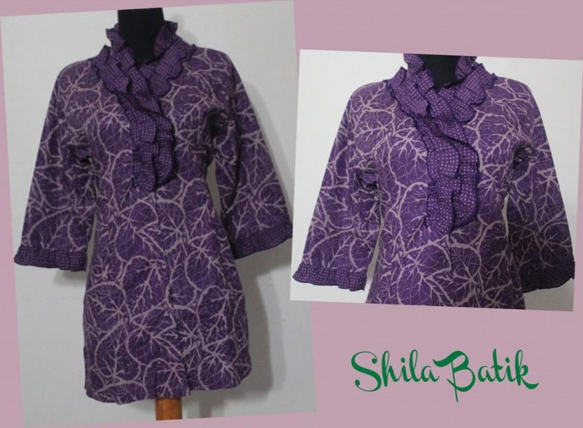 Blus Batik Cap Variasi Di Leher Jual Batik Online Murah