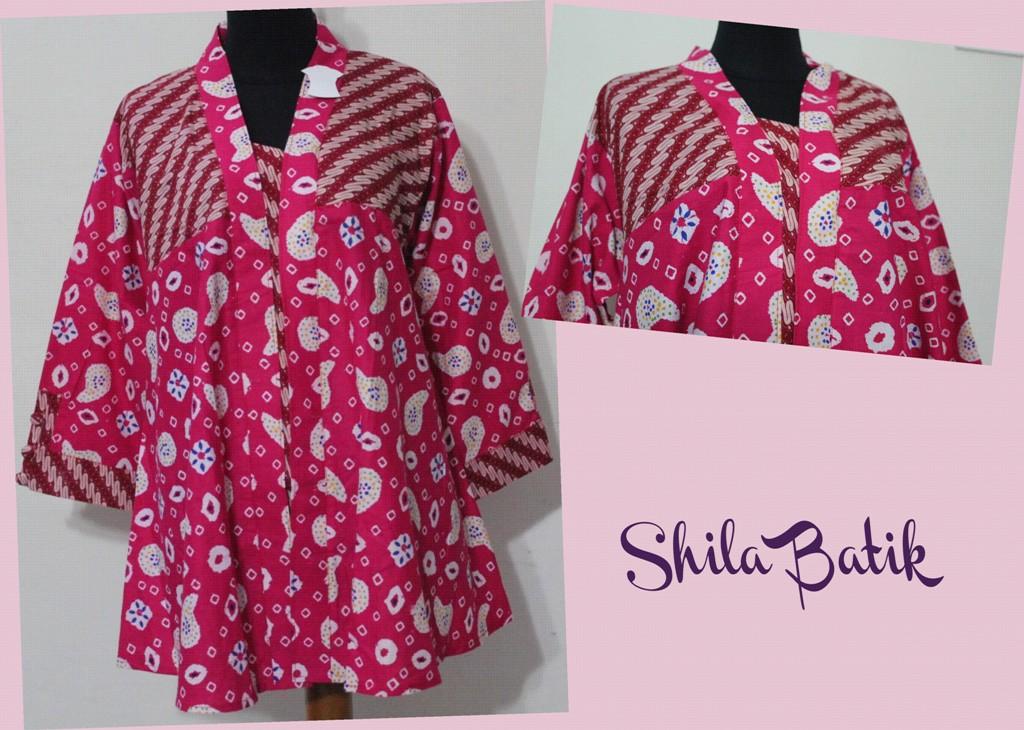 Blus Batik Jumbo Pink Model Klok Jual Batik Online Murah