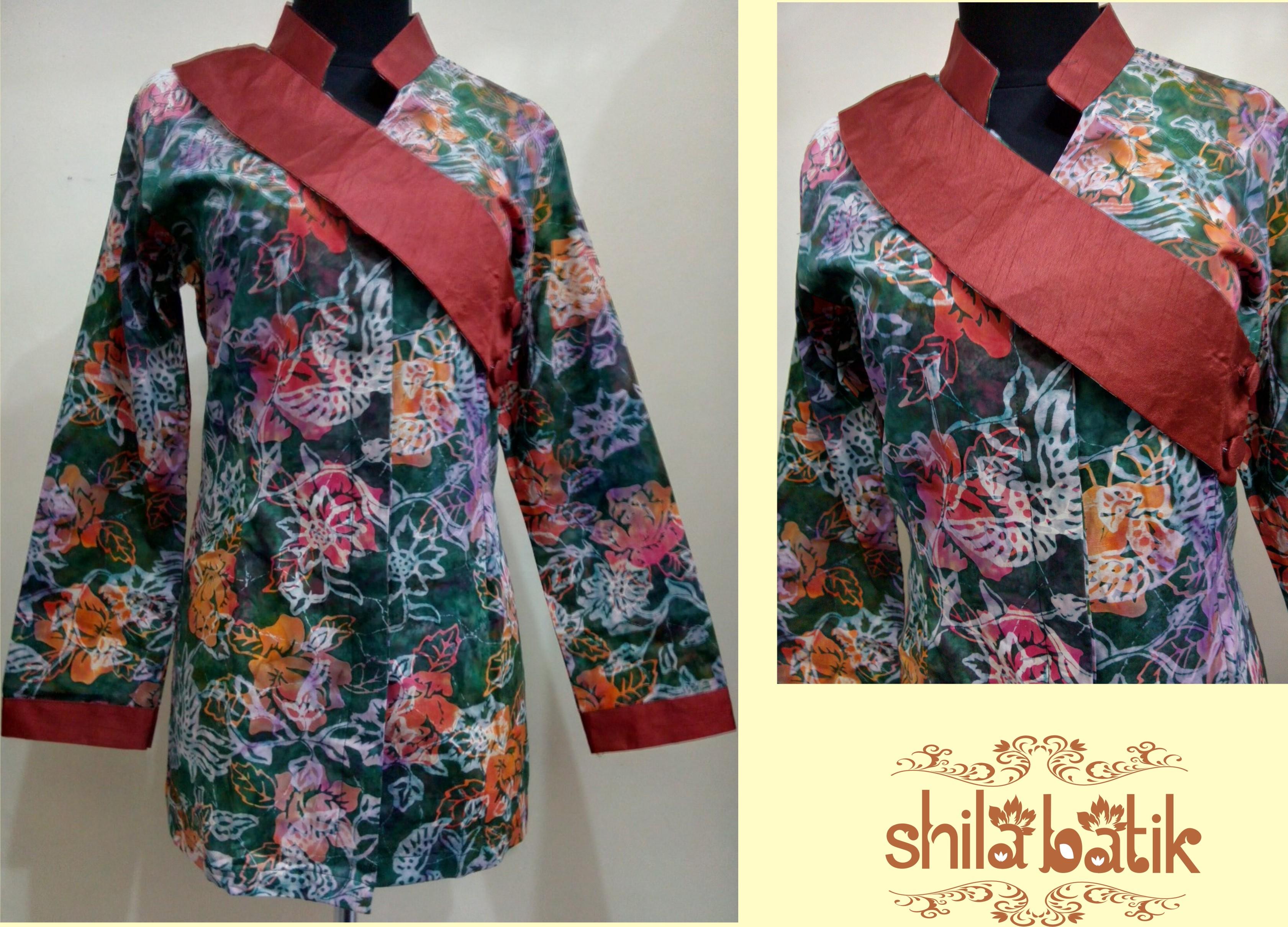 Jual Gamis Batik Dress Panjang Dress Batik Kombinasi