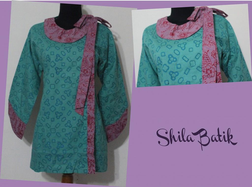 Blus Batik Model Pita Hijau Ungu Jual Batik Online Murah